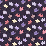 Seamless pattern with maple leaves Stock Photo