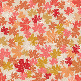 Seamless pattern with maple leaves. A seamless pattern with maple leaves of different colors Royalty Free Stock Photo