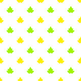 Seamless pattern with maple leaves. Seamless pattern with yellow and green maple leaves on a white background. This pattern can be used in the design of textile Royalty Free Stock Image