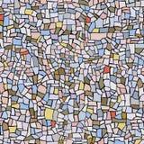 Seamless pattern of marble mosaic. Stock Image