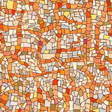 Seamless pattern of marble orange mosaic. Royalty Free Stock Photos