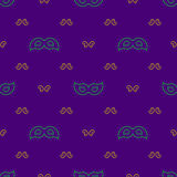 Seamless pattern Mardi Gras Royalty Free Stock Photography
