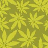 Seamless pattern - Marijuana cannabis. Vector Stock Images