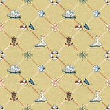 Seamless pattern of marine check stock images