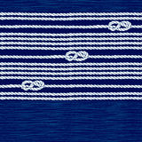 Seamless pattern with marine rope and knots on a blue background. Endless abstract background with ropes and marine knots Royalty Free Stock Images