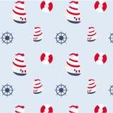 Seamless pattern in marine style Stock Photo