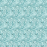 Seamless pattern for marine theme.  anchor,rope and shell. V Stock Photos