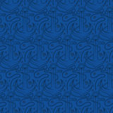 Seamless pattern for marine theme. anchor,rope and shell. V Stock Image