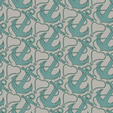 Seamless pattern for marine theme. anchor,rope and shell. V Royalty Free Stock Photo
