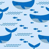 Seamless pattern. Marine themes. Vector. Seamless pattern. Marine themes. Vector Whale fish Vector Illustration