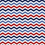 Seamless pattern with a maritime theme. Retro colors. Colorful sea waves. Stripe Royalty Free Stock Photo