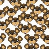 Seamless pattern with marmots royalty free illustration