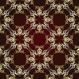 Seamless pattern on maroon background Stock Image