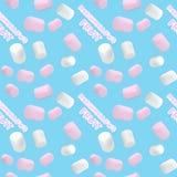 Seamless pattern.Marshmallow white and pink. Pattern of a beautiful marshmallow. Good vector illustration for packing. Seamless pattern.Marshmallow white and Royalty Free Illustration