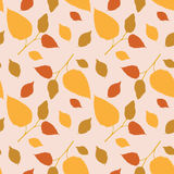 Seamless pattern with marvelous autumn leaves Royalty Free Stock Image