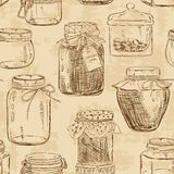 Seamless pattern of mason jars Royalty Free Stock Photos