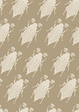 Seamless Pattern with May-Bugs Stock Images