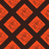 Seamless pattern with  Maya hieroglyphs Stock Images