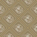 Seamless pattern with  Maya hieroglyphs Royalty Free Stock Photo