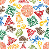Seamless pattern of mayan and aztec ornament Royalty Free Stock Images