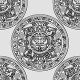 Seamless pattern with Mayan zodiac Stock Image