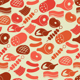 Seamless pattern with meat Stock Photography