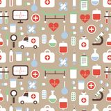 Seamless pattern of medical and health vector Royalty Free Stock Photo