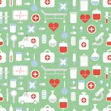 Seamless pattern of medical and health vector Stock Photo