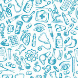 Seamless pattern Medical icons and elements of Stock Photo