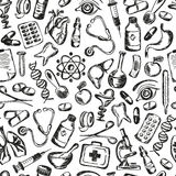 Seamless pattern Medical icons and elements of Stock Photos