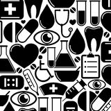 Seamless pattern with medical icons Stock Photos