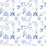 Seamless pattern-medical items Royalty Free Stock Photos