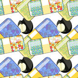 Seamless pattern Medical pill a tablet. vector illustration Royalty Free Stock Photos