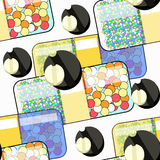 Seamless pattern Medical pills, tablets, activated carbon. vecto Stock Photos