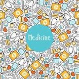 Seamless pattern medicine. On a white background Stock Photo