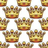 Seamless pattern of medieval royal crowns Royalty Free Stock Photos