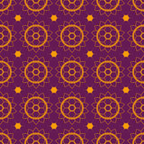 Seamless pattern mehendi violet Stock Images