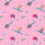 Seamless pattern in memphis style Stock Photography