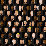 Seamless pattern with men group or community wearing sport uniform.  Royalty Free Stock Images