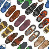 Seamless pattern with men's shoes Royalty Free Stock Image
