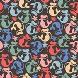 Seamless pattern mermaid. Stock Photo
