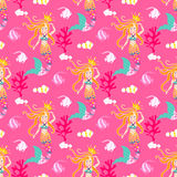 Seamless pattern with mermaid. Royalty Free Stock Photos