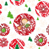 Seamless pattern, merry christmas, angel Stock Image