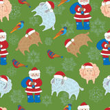 Seamless pattern with Merry Christmas  Greeting card. Royalty Free Stock Photography
