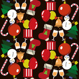 Seamless pattern. Merry Christmas and New Year. Royalty Free Stock Photo