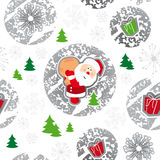 Seamless pattern, merry christmas, santa claus Stock Image