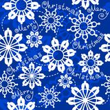 Seamless pattern Merry Christmas Royalty Free Stock Photo