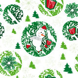 Seamless pattern, merry christmas, snowman Royalty Free Stock Images