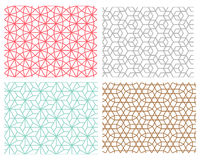 Seamless pattern in mesh style hexagon concept Royalty Free Stock Photos