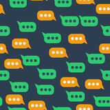 Seamless pattern with message bubble Stock Photography